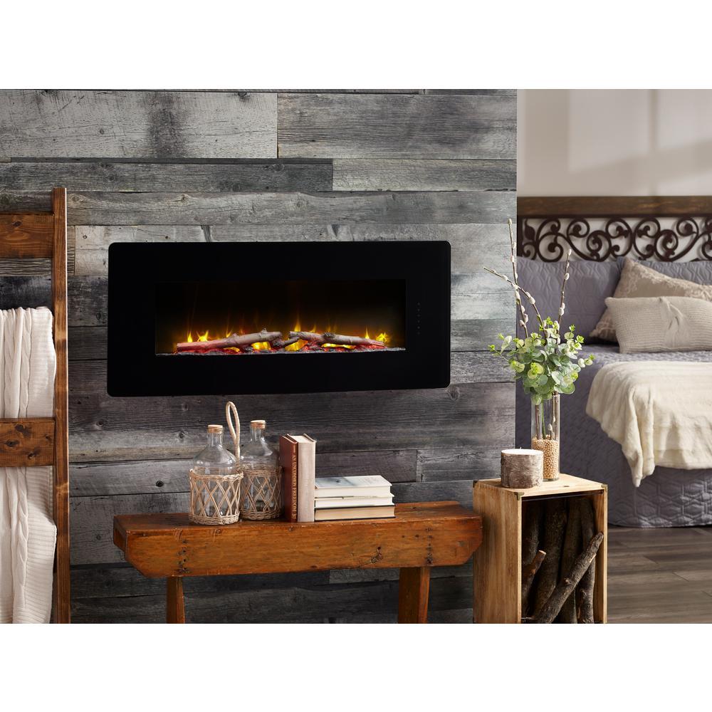 Winslow 42 in. Wall-Mount/Tabletop Linear Electric Fireplace in Black