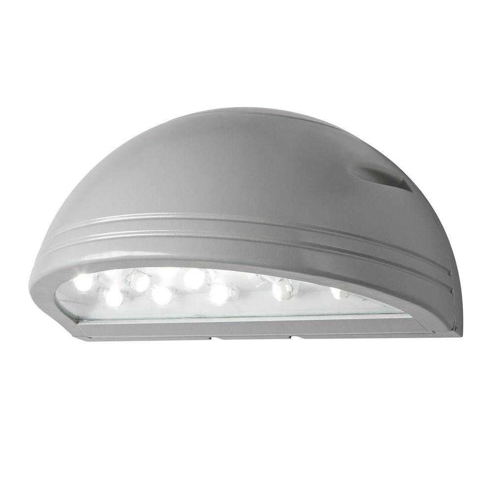 Illume lighting outdoor silver grey led wall pack i 1190 sg the home depot - Consider led wall pack lighting home ...