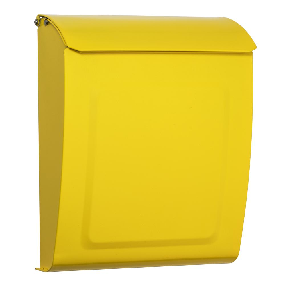 Architectural Mailboxes Aspen Locking Wall Mount Mailbox Yellow