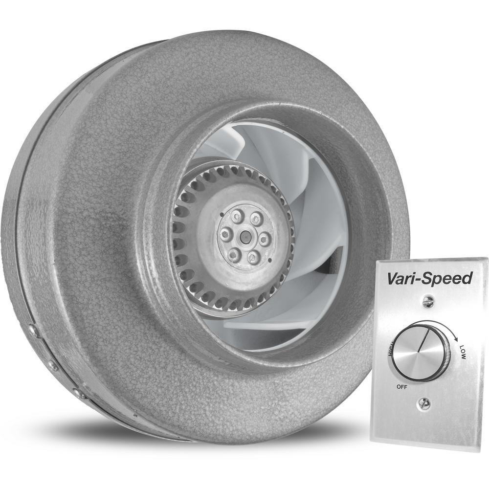 Vortex Powerfan 6 In L 293 Cfm Inline Fan With Vari Speed