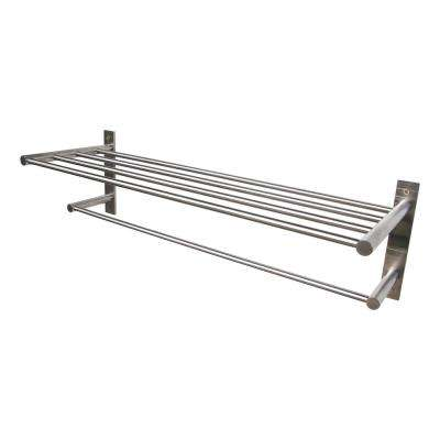 22 in. 4-Bar Towel Rack in Satin Stainless Steel