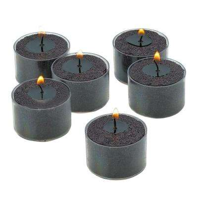 Black Unscented Tealight Candles with Clear Cups (Set of 72)