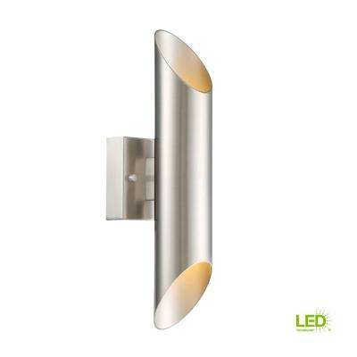Skyler Up and Down Satin Platinum Indoor LED Sconce