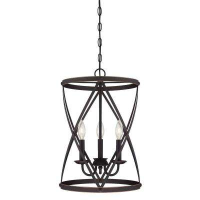 Isadora 3-Light Oil Rubbed Bronze Chandelier