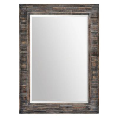 Large Rectangle Dark Charcoal Classic Mirror (42 in. H x 30 in. W)