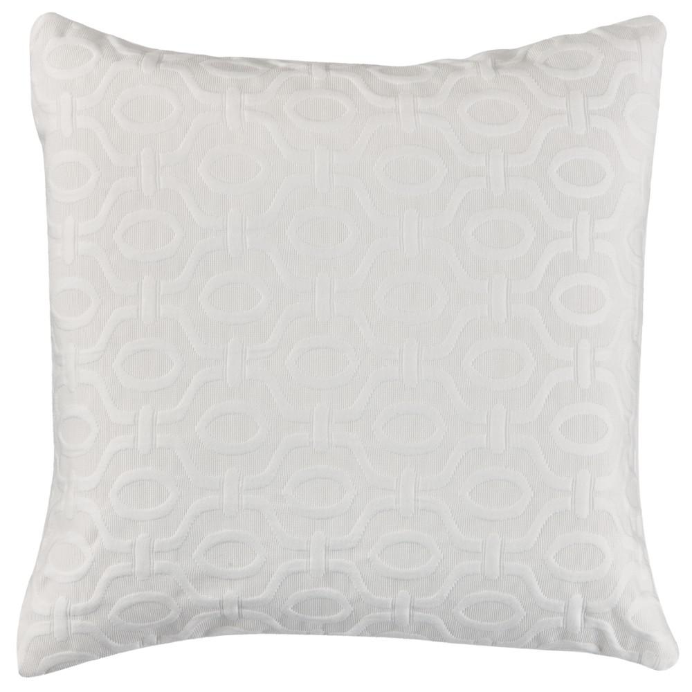 Home Decorators Collection Valiant 20 in. White Square Decorative Pillow-9709900410 - The Home Depot