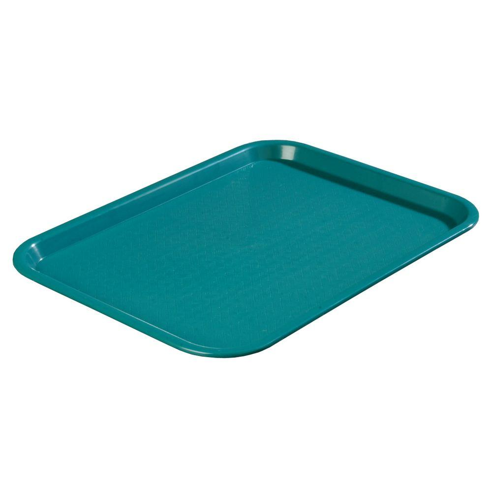 12 in. x 16 in. Polypropylene Serving/Food Court Tray in Teal