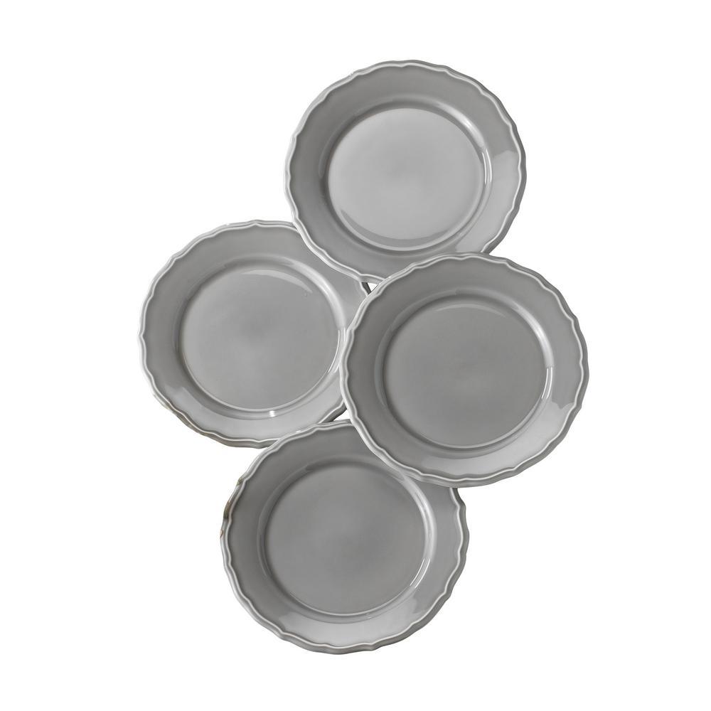 Savannah 4 Piece Grey Salad Plate Set