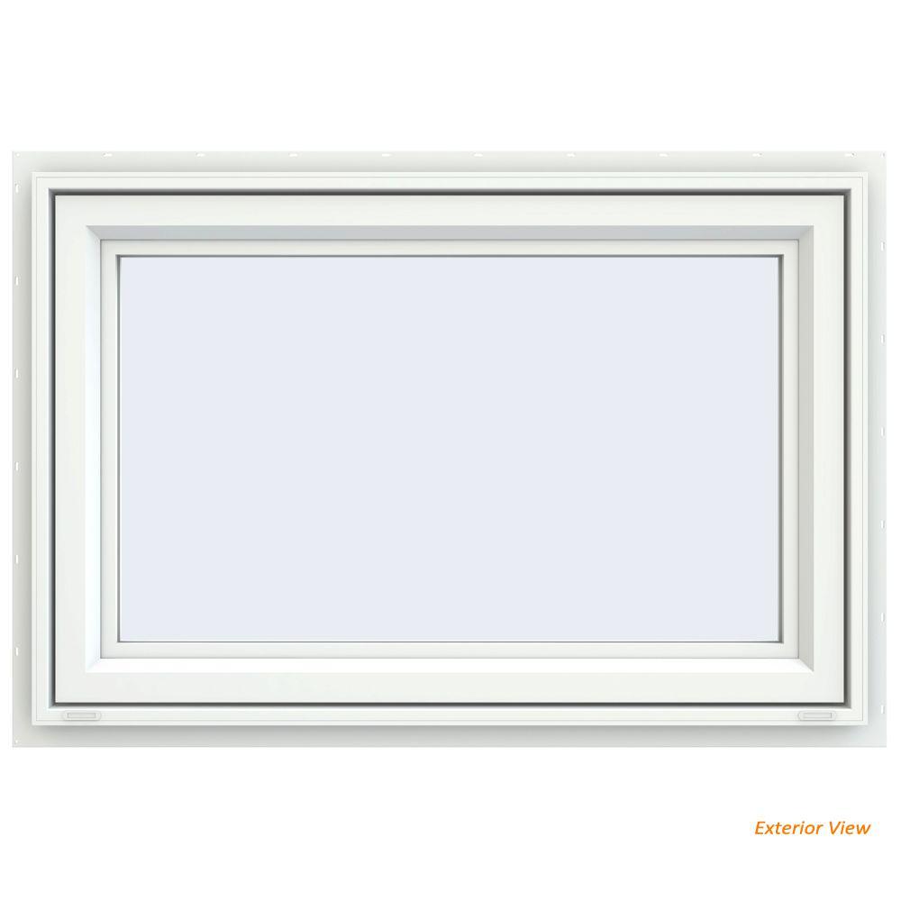 JELD-WEN 35.5 in. x 29.5 in. V-4500 Series White Vinyl ...