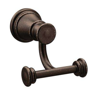 Belfield Double Robe Hook In Oil Rubbed Bronze