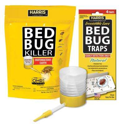 32 oz. Diatomaceous Earth Bed Bug Killer and Bed Bug Trap Value Pack