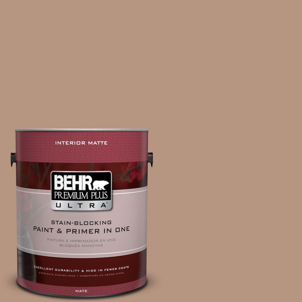 BEHR Premium Plus Ultra 1 gal. #S220-4 Potter's Clay Matte Interior Paint