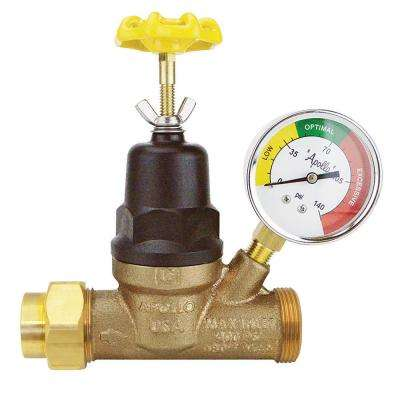 3/4 in. x 3/4 in. Lead Free Bronze FNPT Pressure Reducing Valve with Gauge