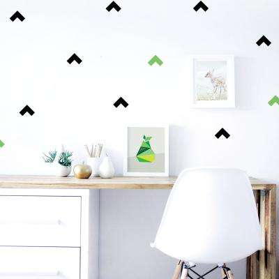 Black/Grass-Green Boomerang Wall Decal