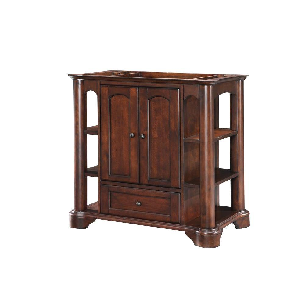 Hembry Creek Wyncote 36 in. W x 21 in. D x 34 in. H Vanity Cabinet Only in Mahogany