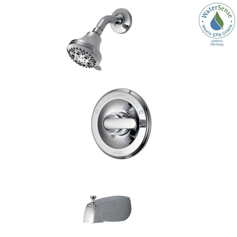 Delta Classic Single Handle 5 Spray Tub And Shower Faucet In Chrome