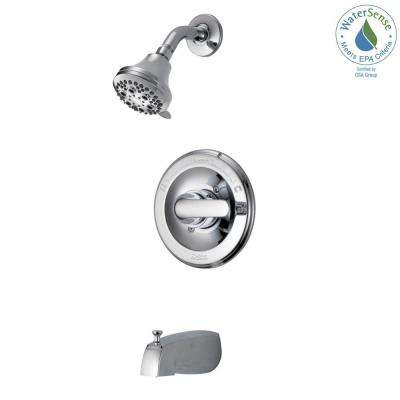 Clic Single Handle 5 Spray Tub And Shower Faucet