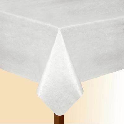 52 in. W x 108 in. L White Elrene Vinyl Table Pad