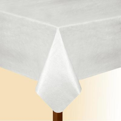 52 in. W x 144 in. L White Elrene Vinyl Table Pad