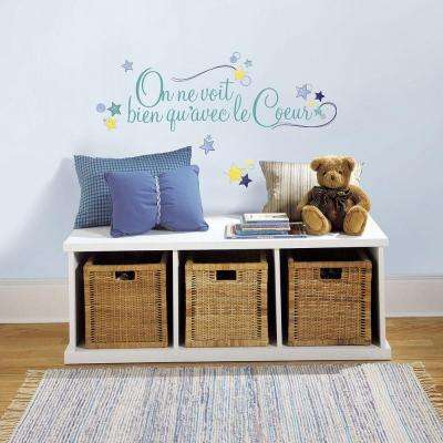 5 in. x 11.5 in. Le Coeur Peel and Stick Wall Decals