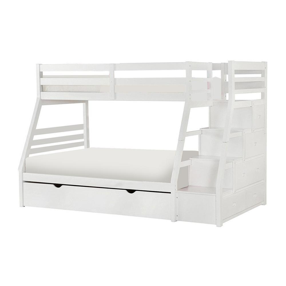 Amelia White Twin Bed with Storage