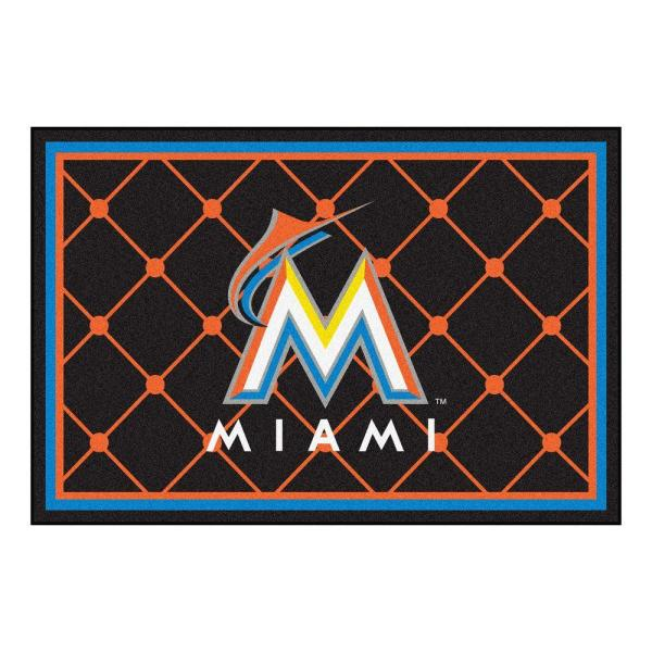 Miami Marlins 5 ft. x 8 ft. Area Rug