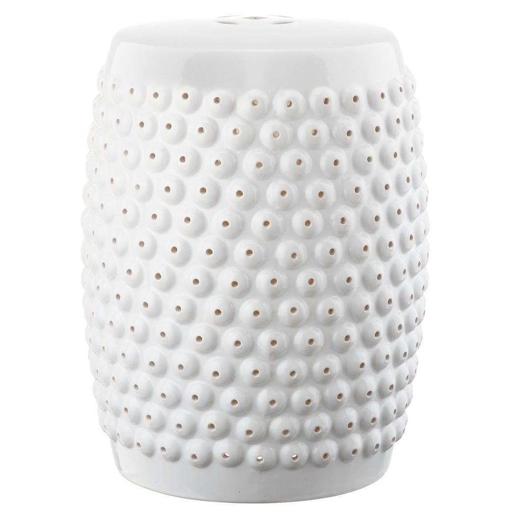 Stella Nail White Head Ceramic Garden Stool