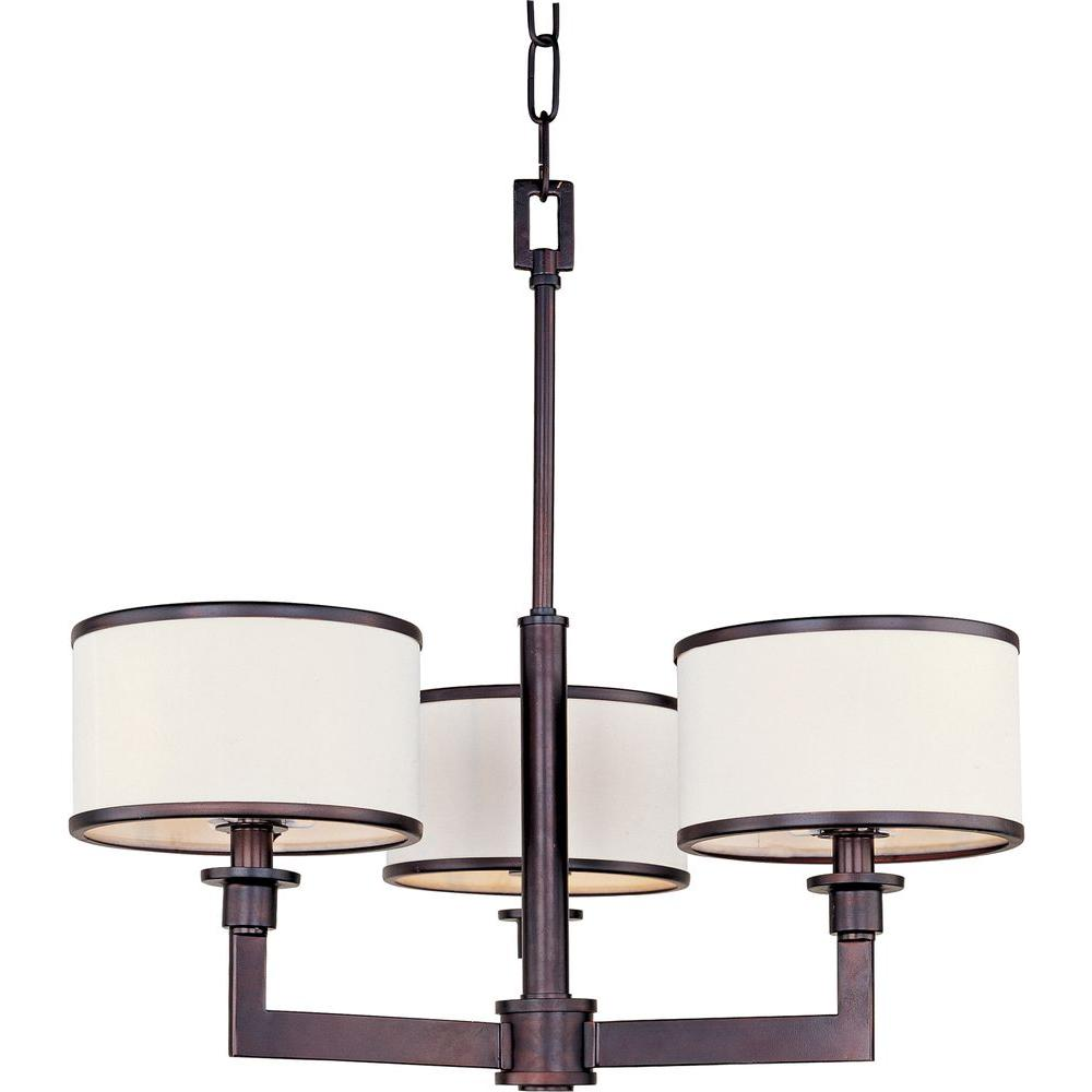 Maxim Lighting Nexus 3 Light Oil Rubbed Bronze Mini Chandelier