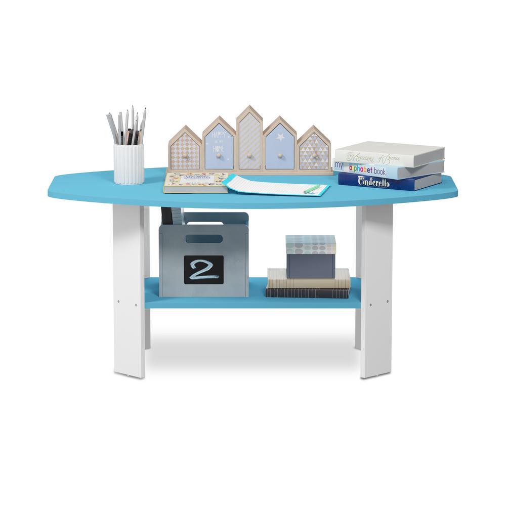 Simple Design Light Blue Coffee Table