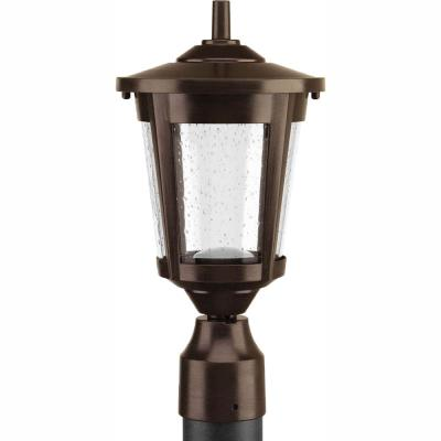 East Haven Collection 1-Light Antique Bronze LED Outdoor Post Lantern