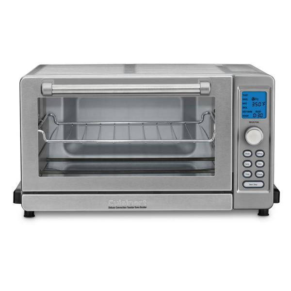Deluxe 1800 W 6-Slice Stainless Steel Toaster Oven with LCD Display