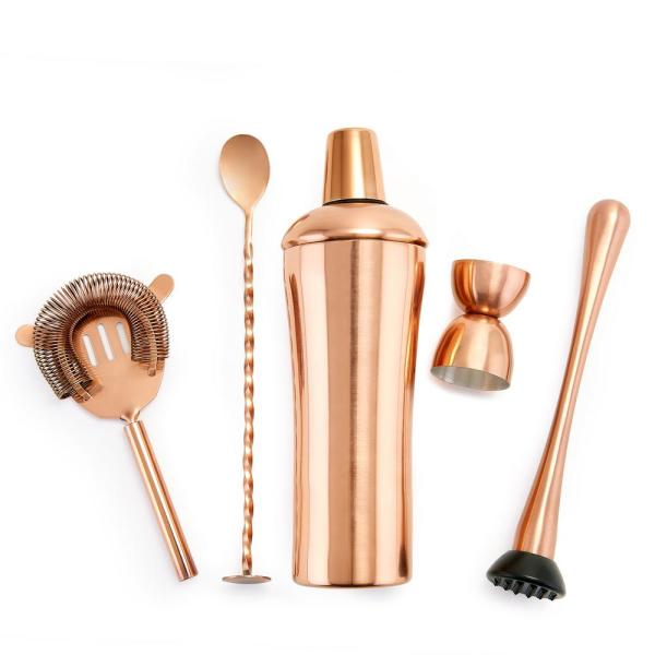 Old Dutch - DuraCopper 5-Piece Cocktail Shaker Set