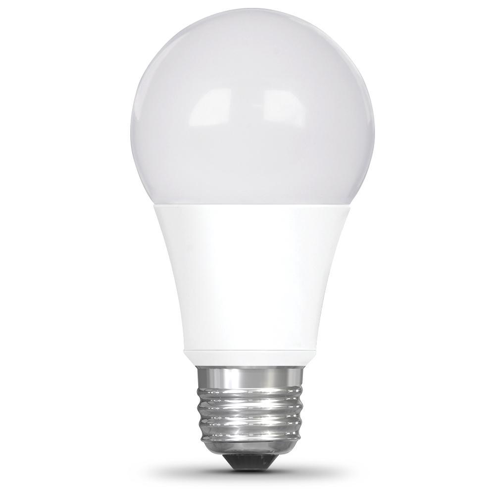 Feit Electric 60-Watt Equivalent A19 LED 12-Volt RV/Marine Light Bulb Soft White