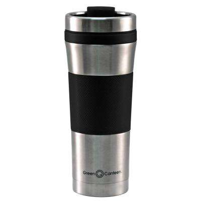 16 oz. Stainless Steel Double Wall Travel Mug with Black Wrap (12-Pack)