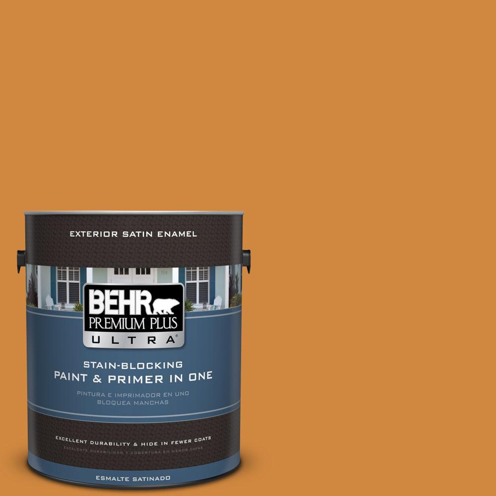 BEHR Premium Plus Ultra 1-gal. #290D-6 Acorn Satin Enamel Exterior Paint