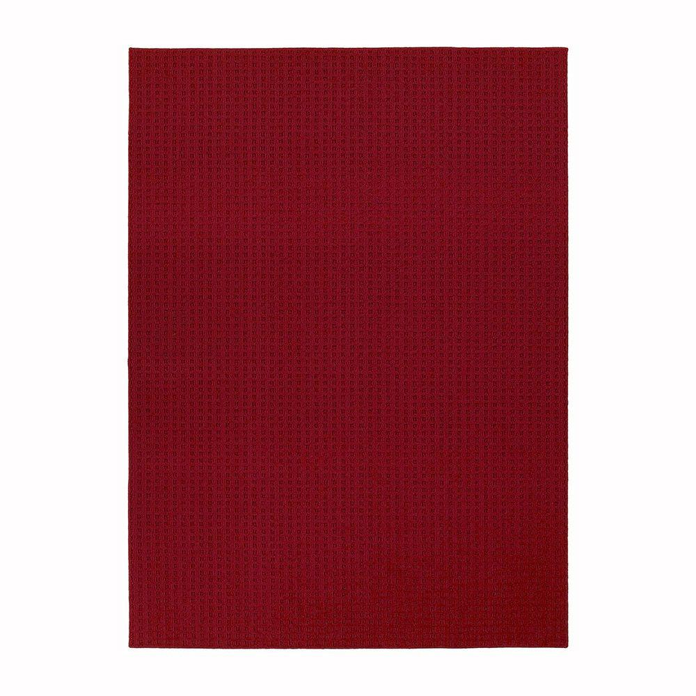 Garland Rug Herald Square Chili Red 7 ft. 6 in. x 9 ft. 6 in. Area Rug