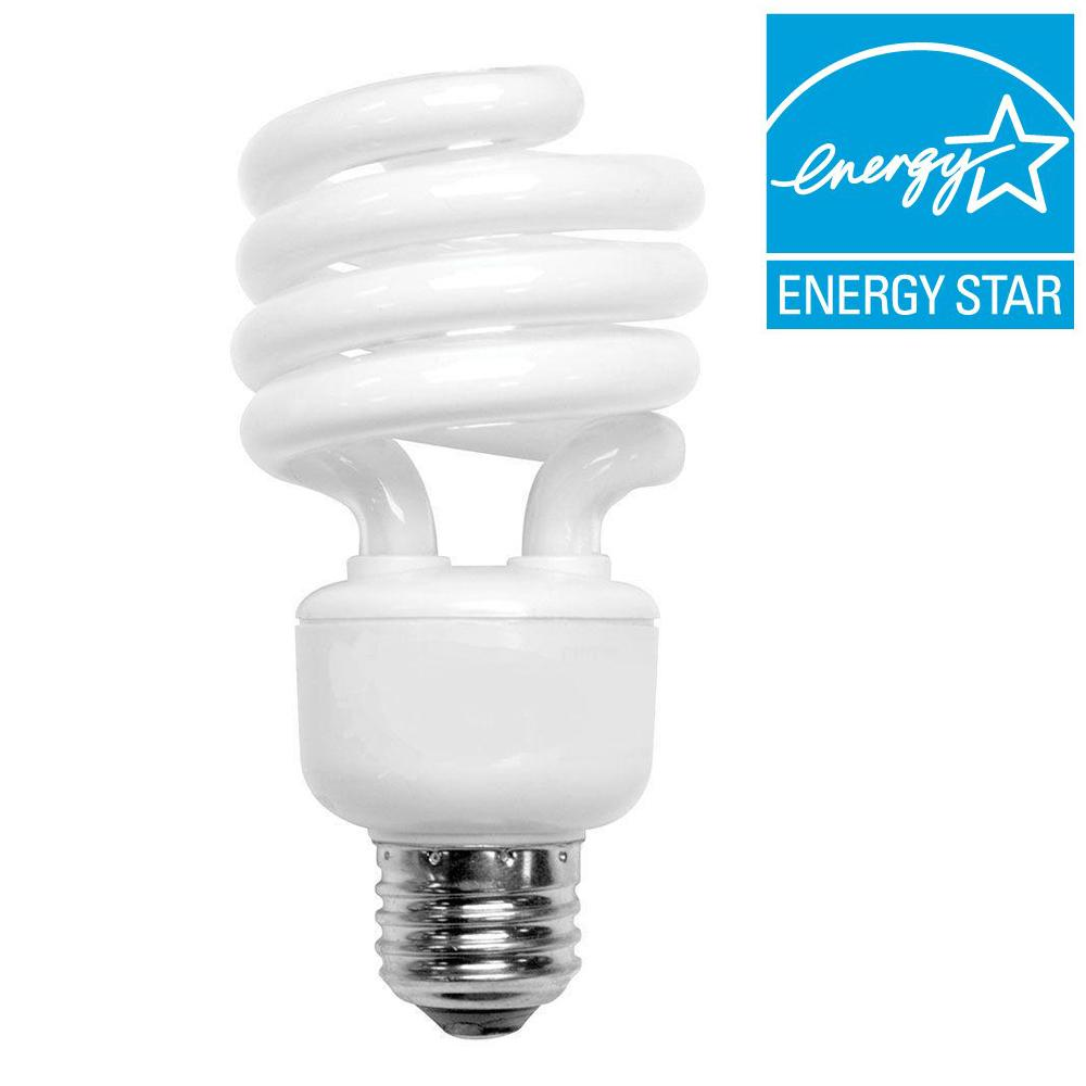 null 100W Equivalent Daylight Spiral CFL Light Bulb