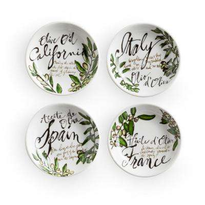 Olive Oil White Dipping Dishes (Set of 4)