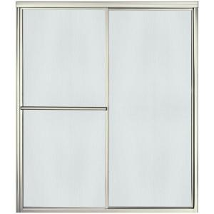 Sterling Deluxe 59-3/8 inch x 70 inch Framed Sliding Shower Door in Nickel with Handle by STERLING