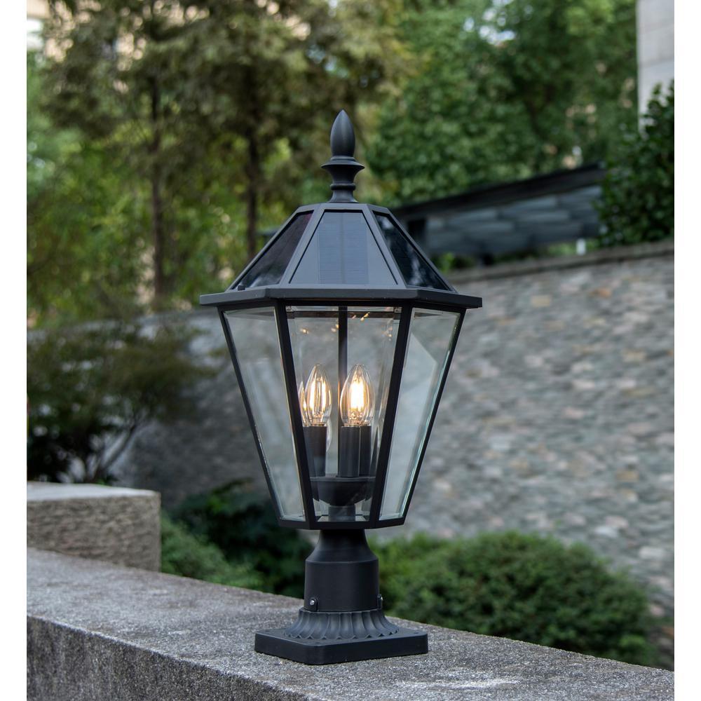 Coastal Milford 3-Light Outdoor Black Post Light