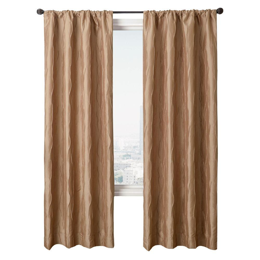 Home Decorators Collection Semi-Opaque Biscuit Dolce Rod Pocket Panel - in. W x 96 in. L