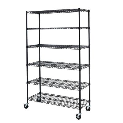Home Organization Radient Muscle Rack Shelving Unit 72 In H 5 Tiers Adjustable Shelves Steel Frame Black