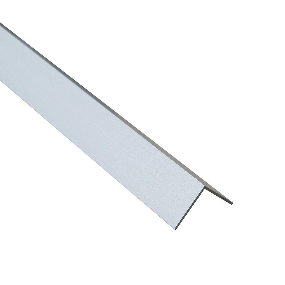 Emac Novoescuadra Matt Silver 3/4 in. x 98-1/2 in. Aluminum Tile Edging Trim