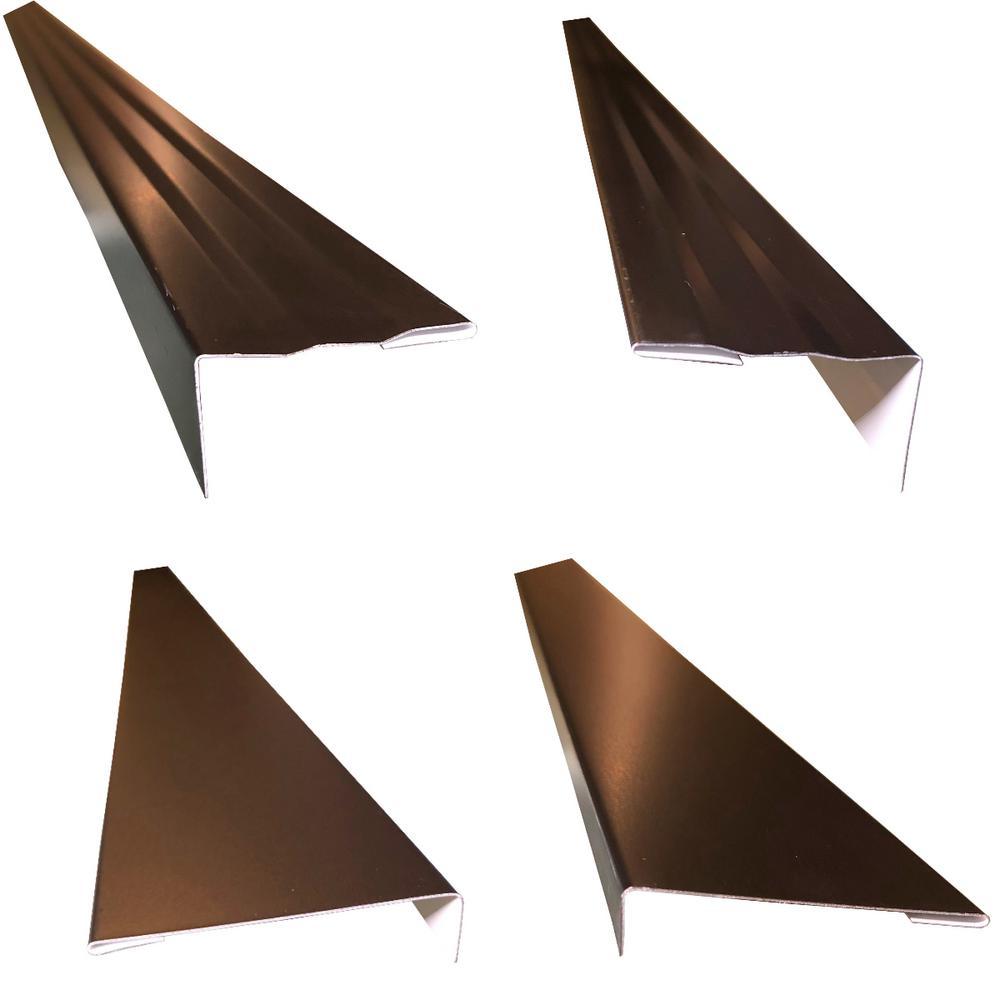 2.5 in. x 2.25 in. x 85 in. Complete Aluminum-Metal Brickmold and Jamb Door Trim Cover Kit - 72 in. Door w/Brick, Black