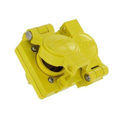 15 Amp 125-Volt Wetguard Straight Blade Grounding Duplex Outlet, Yellow/White