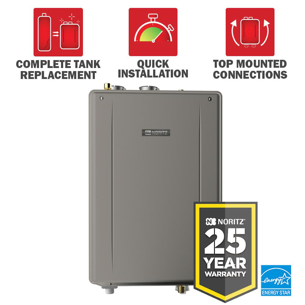 NORITZ 50 Gal. Tank Replacement 9.8 GPM Natural Gas High Efficiency Indoor Tankless Water Heater Kit - 25 Year Warranty was $1798.87 now $1439.0 (20.0% off)