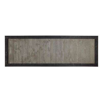 2 ft. x 6 ft. Gray Cedar Sonoma Fence Panel with Black Frame