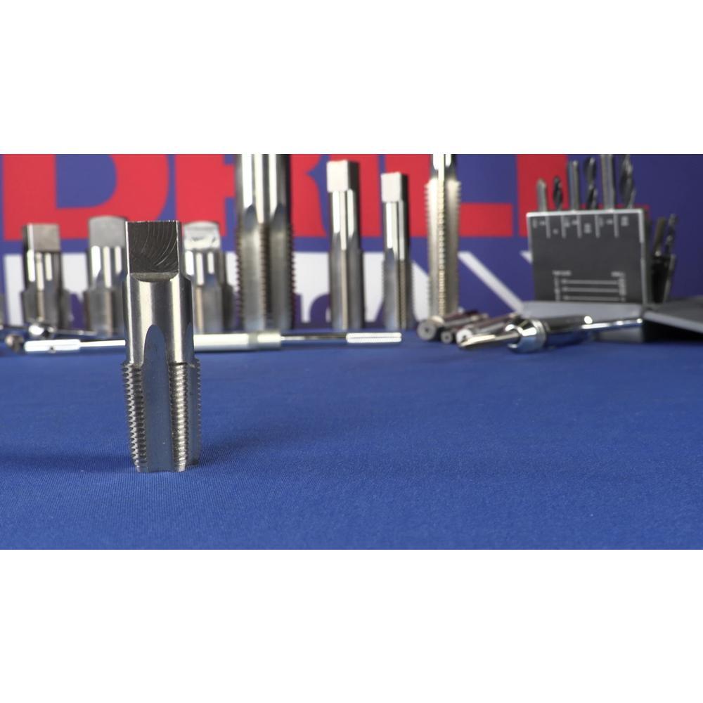 Drill America Plastic Pouch Case 1//8, 1//4, 3//8, 1//2 and 3//4 POUCSNPT5 5 Piece NPT Pipe Tap Set POU Series