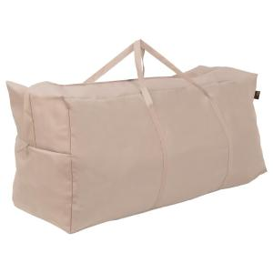 Chalet Water Resistant Outdoor Patio Cushion and Cover Storage Bag, 45.5 in. W x 13.75 in. D x 20 in. H, Beige