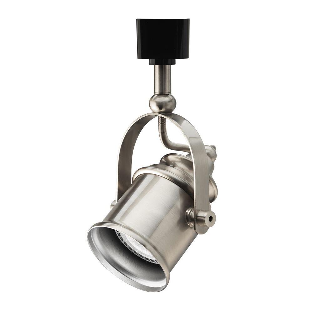 1-Light Brushed Nickel LED Track Lighting Spot-Light